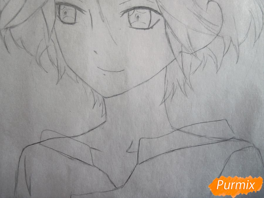 Рисуем маленького Райто Сакамаки - шаг 4