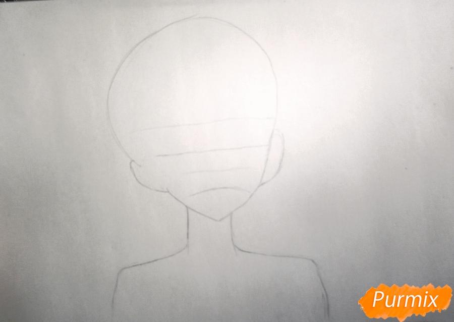 Рисуем маленького Сакамаки Субару - шаг 1