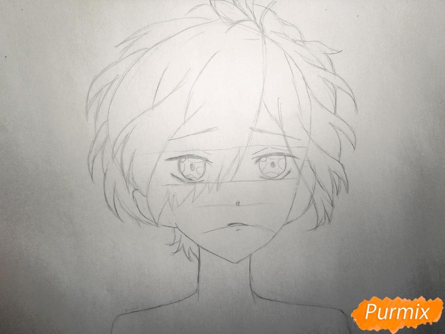 Рисуем маленького Сакамаки Субару - шаг 2
