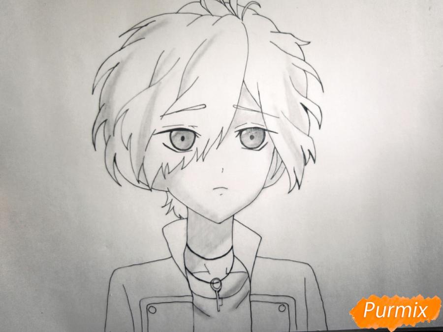 Рисуем маленького Сакамаки Субару - шаг 5