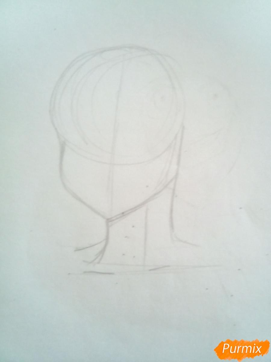 Рисуем Мелиодаса из аниме Семь Смертных Грехов карандашами - шаг 1
