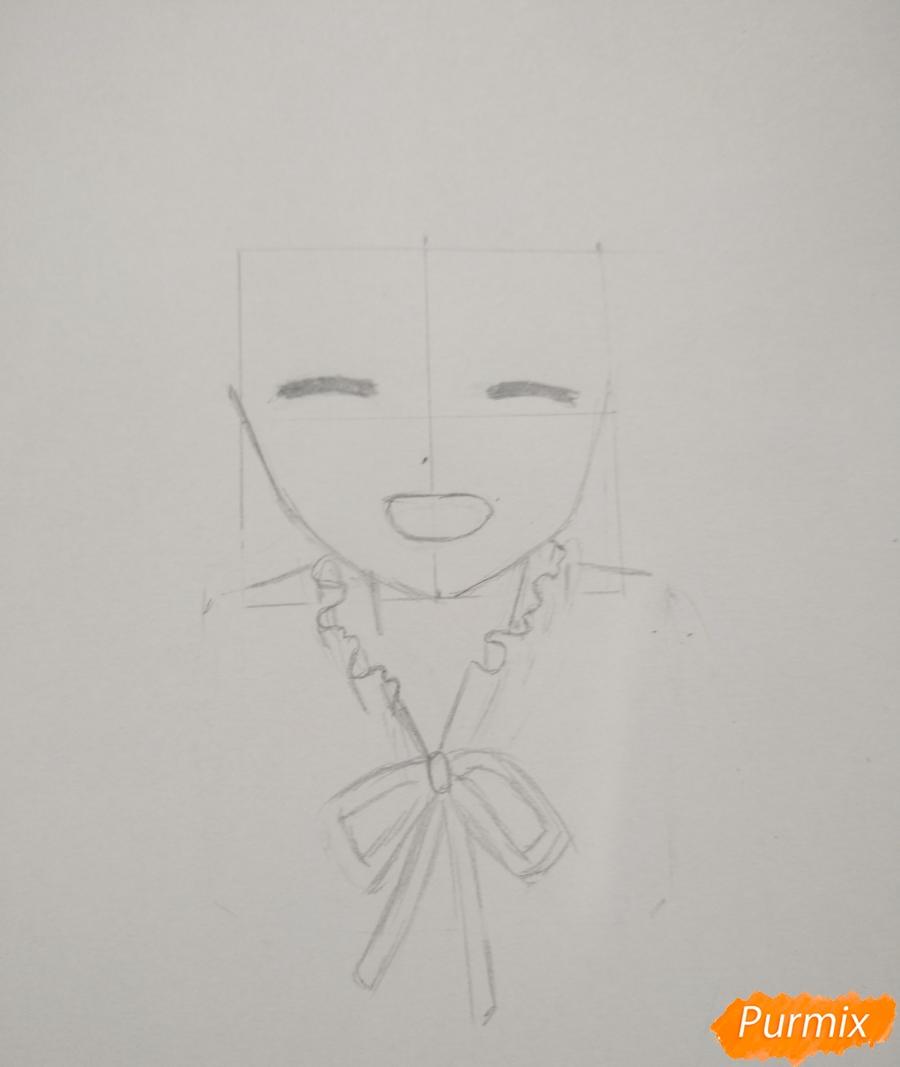 Рисуем Менму из аниме Невиданный цветок - шаг 4