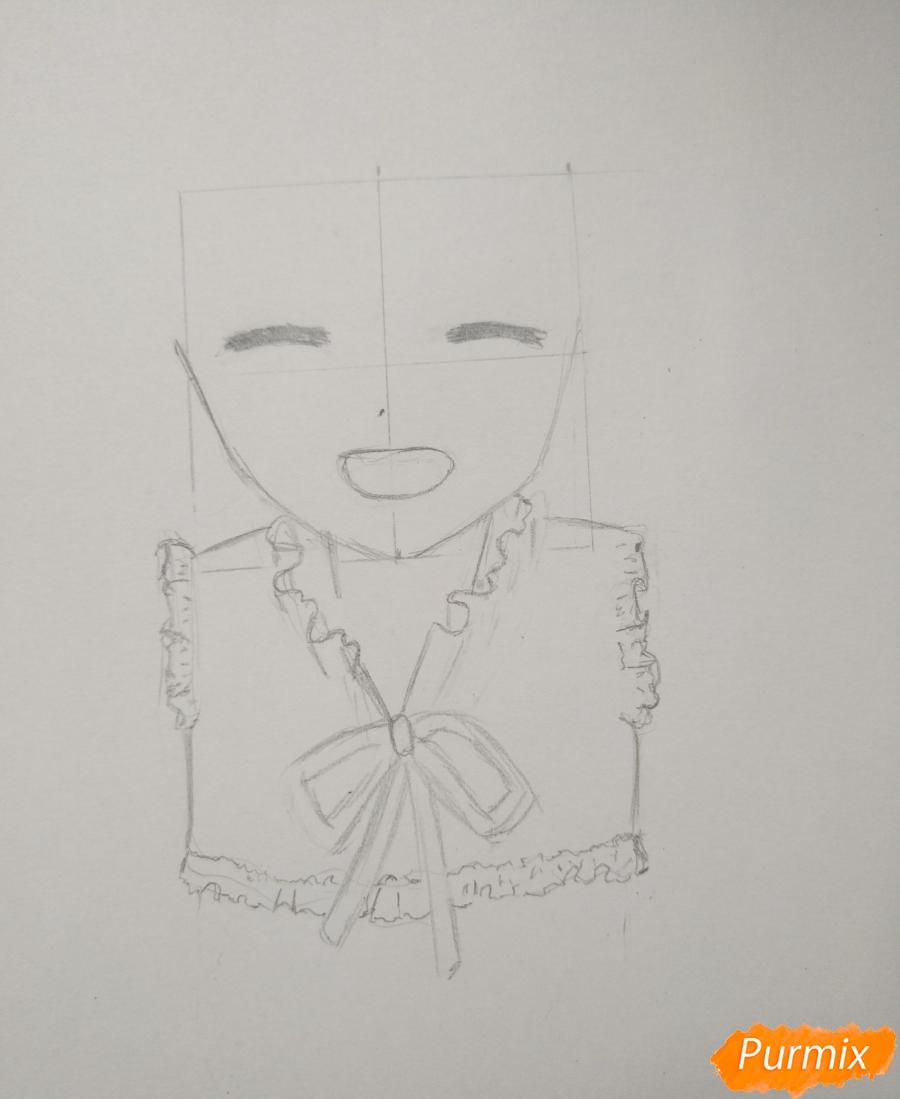 Рисуем Менму из аниме Невиданный цветок - шаг 5