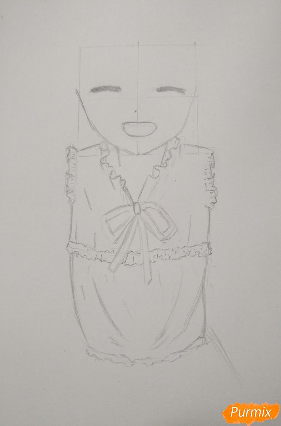 Рисуем Менму из аниме Невиданный цветок - шаг 6