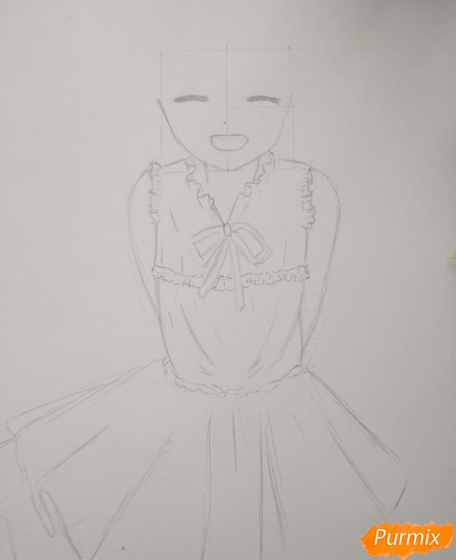 Рисуем Менму из аниме Невиданный цветок - шаг 7