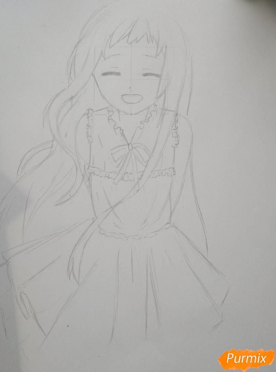 Рисуем Менму из аниме Невиданный цветок - шаг 9