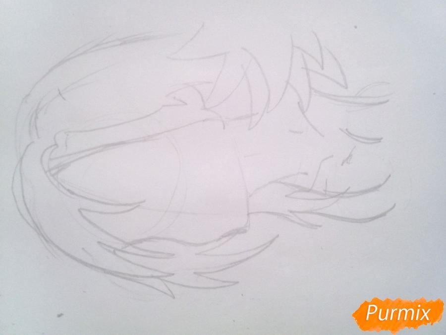 Рисуем Мерлин из аниме Семь Смертных Грехов карандашами - шаг 2