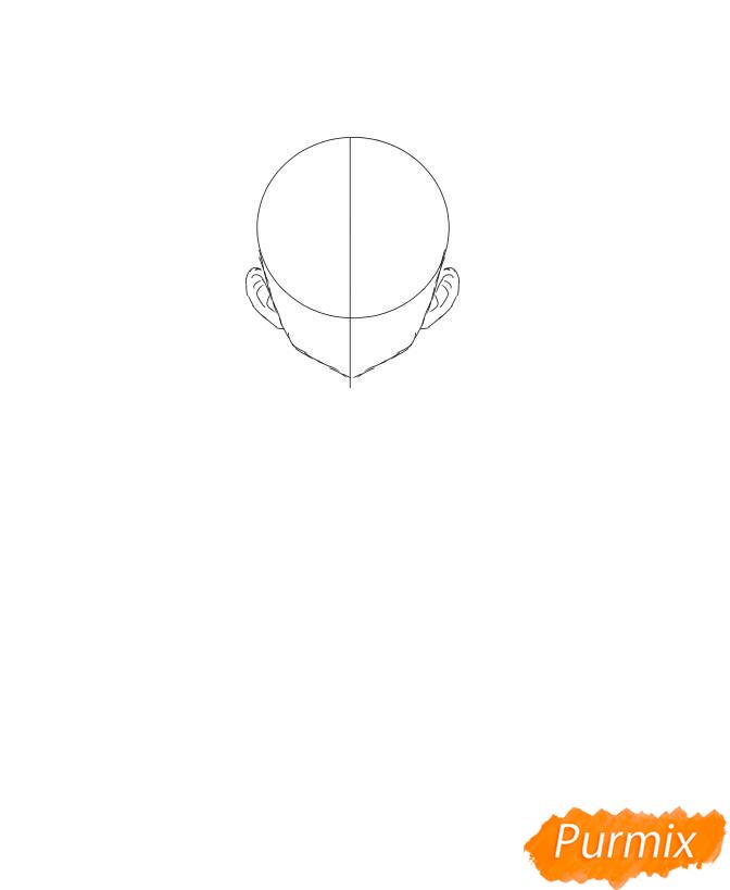 Рисуем Мицури Канроджи из аниме Клинок, рассекающий демонов - шаг 2