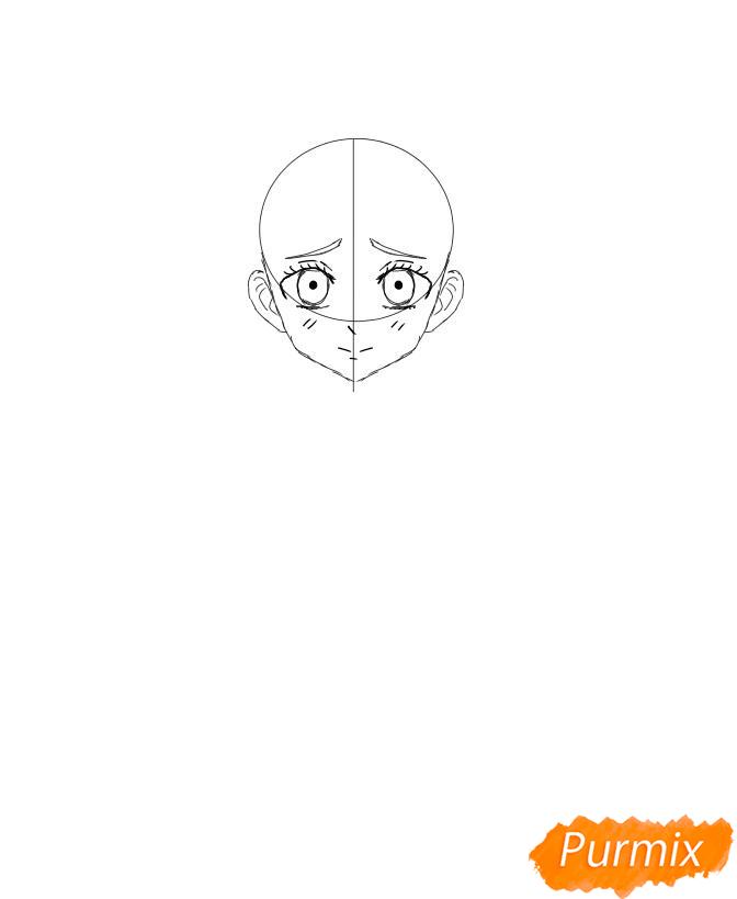 Рисуем Мицури Канроджи из аниме Клинок, рассекающий демонов - шаг 3