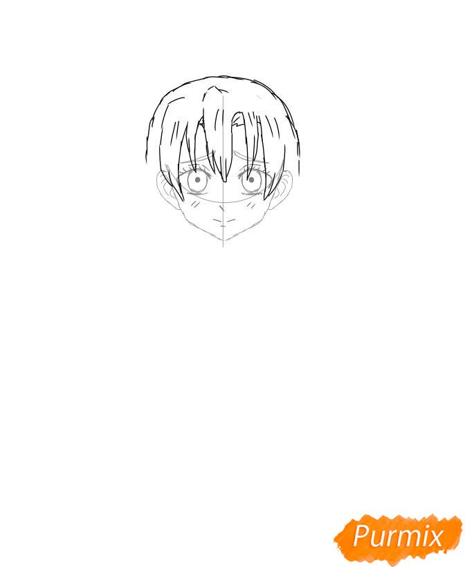 Рисуем Мицури Канроджи из аниме Клинок, рассекающий демонов - шаг 4