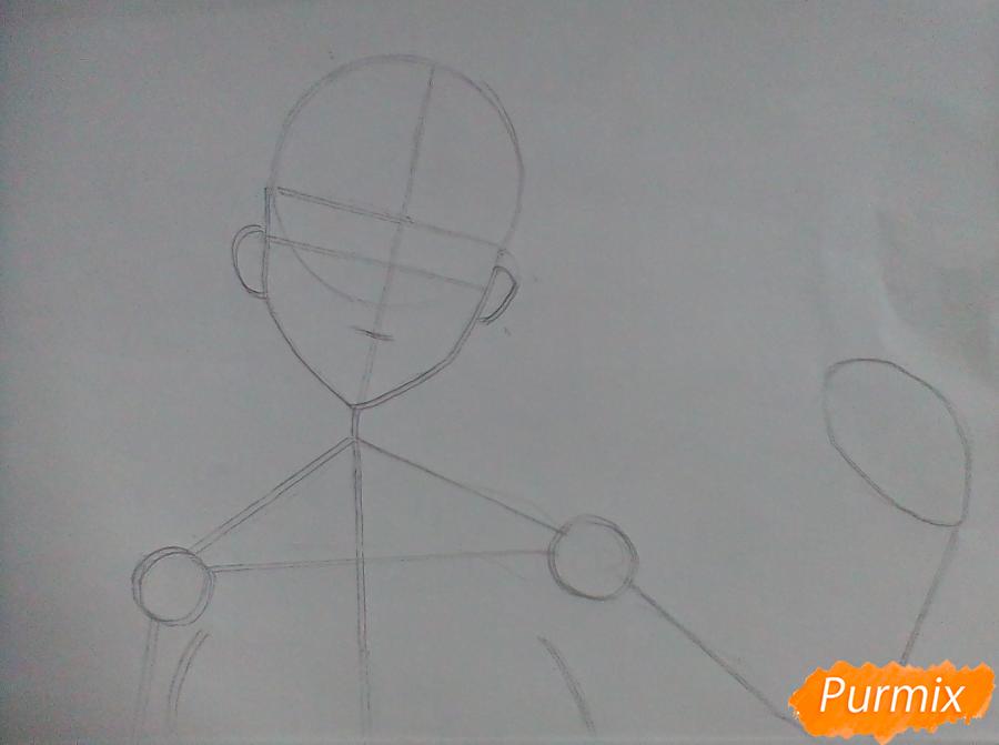 Рисуем Мидари Икишиму из аниме Безумный Азарт - шаг 1