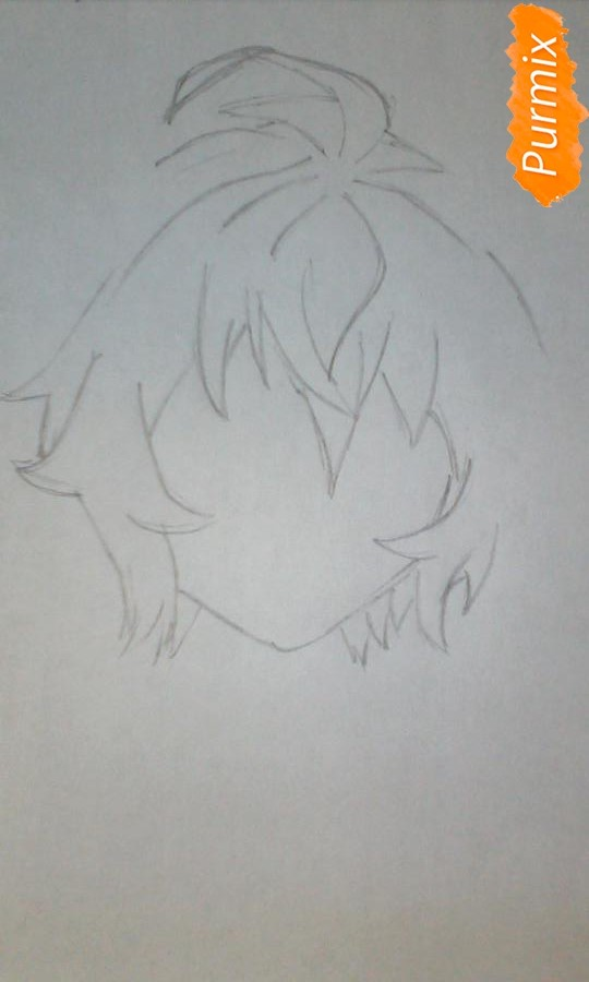 Рисуем Микаэлу Хакуя из аниме Последний Серафим - шаг 2