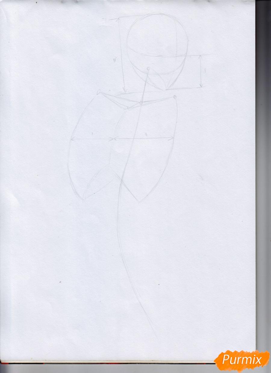 Рисуем Микасу из Атака Титанов в случайной позе - шаг 2