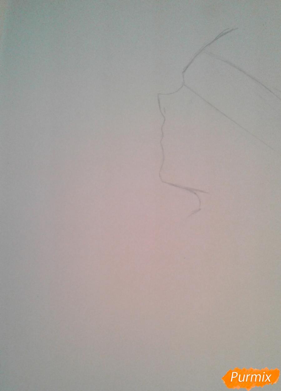 Рисуем Микуни Алисейна из аниме Сервамп - шаг 1