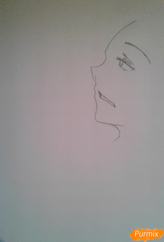 Рисуем Микуни Алисейна из аниме Сервамп - шаг 2