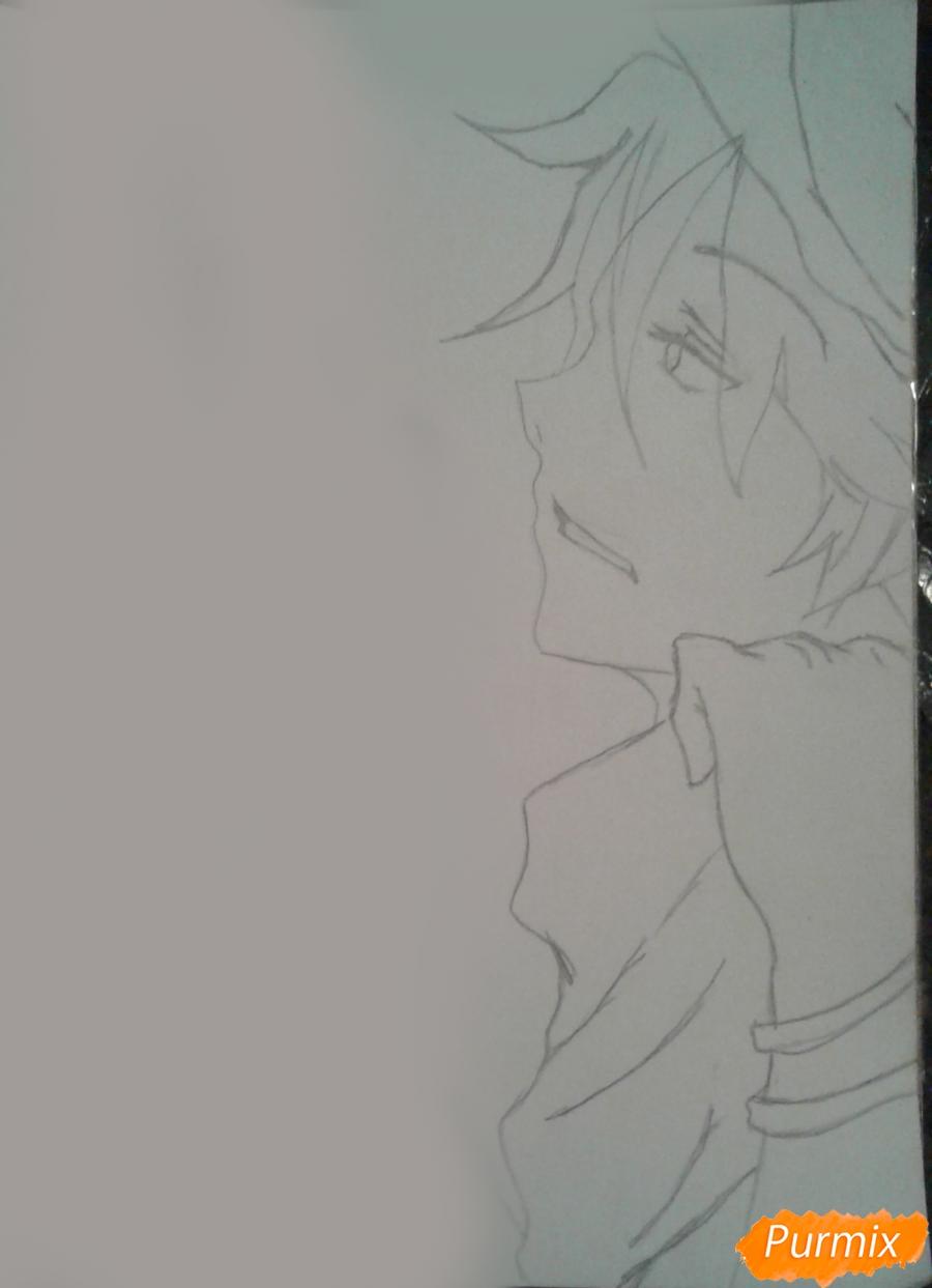 Рисуем Микуни Алисейна из аниме Сервамп - шаг 4