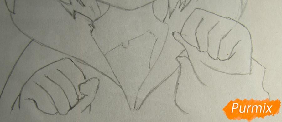 Рисуем миленького мальчика в стиле аниме карандашами и фломастерами - шаг 4