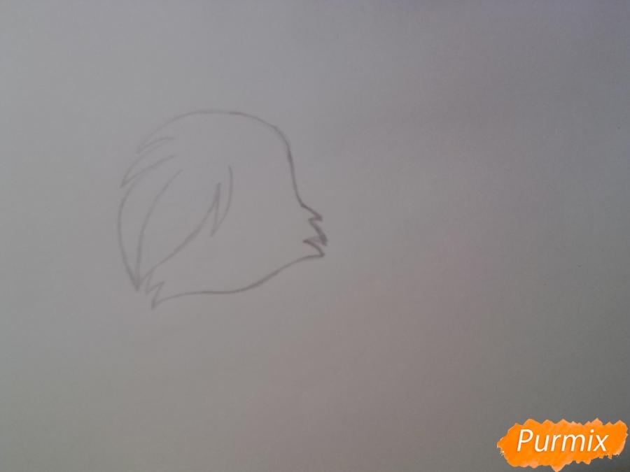 Рисуем милую аниме кошку - шаг 2