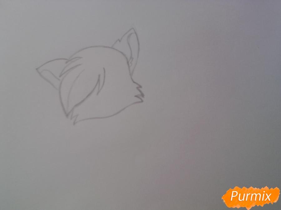 Рисуем милую аниме кошку - шаг 3