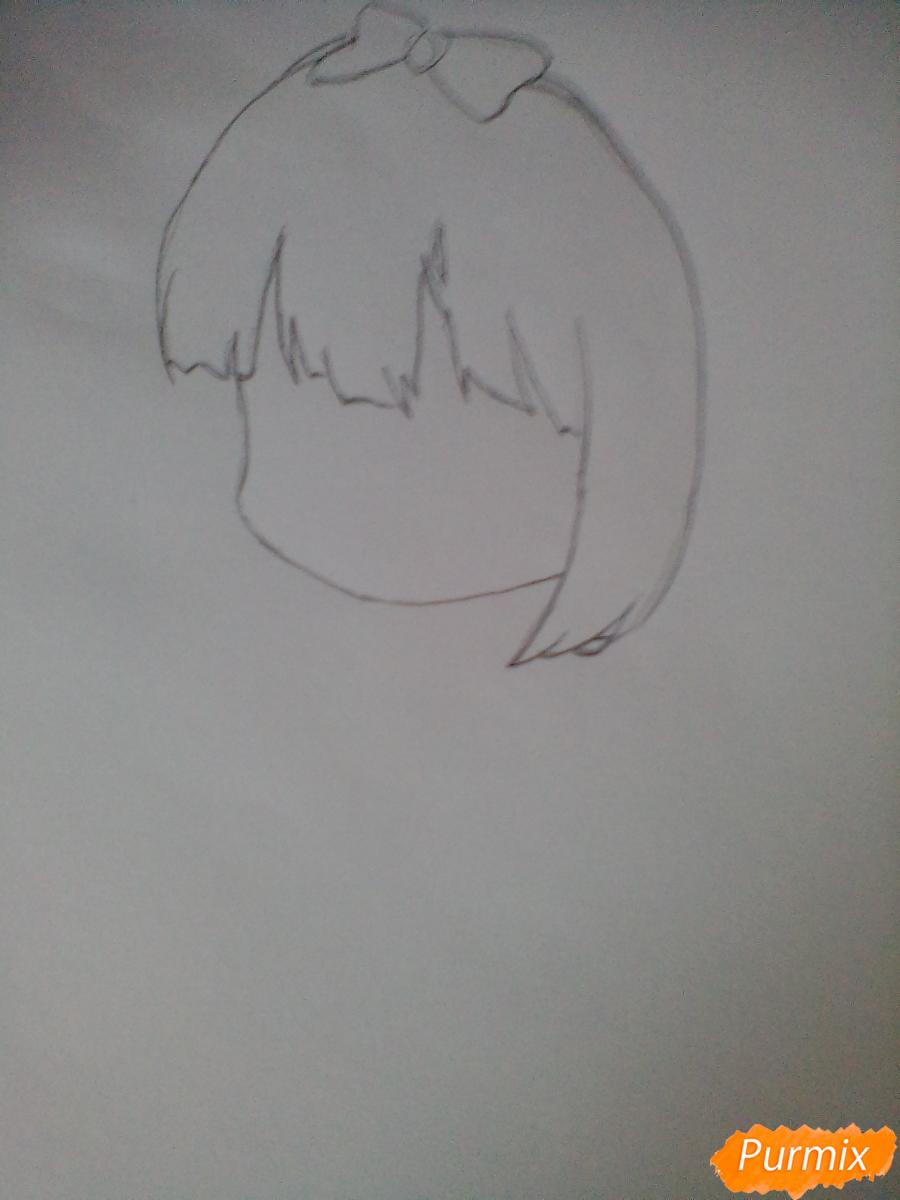 Рисуем милую Канну в стиле чиби - шаг 1
