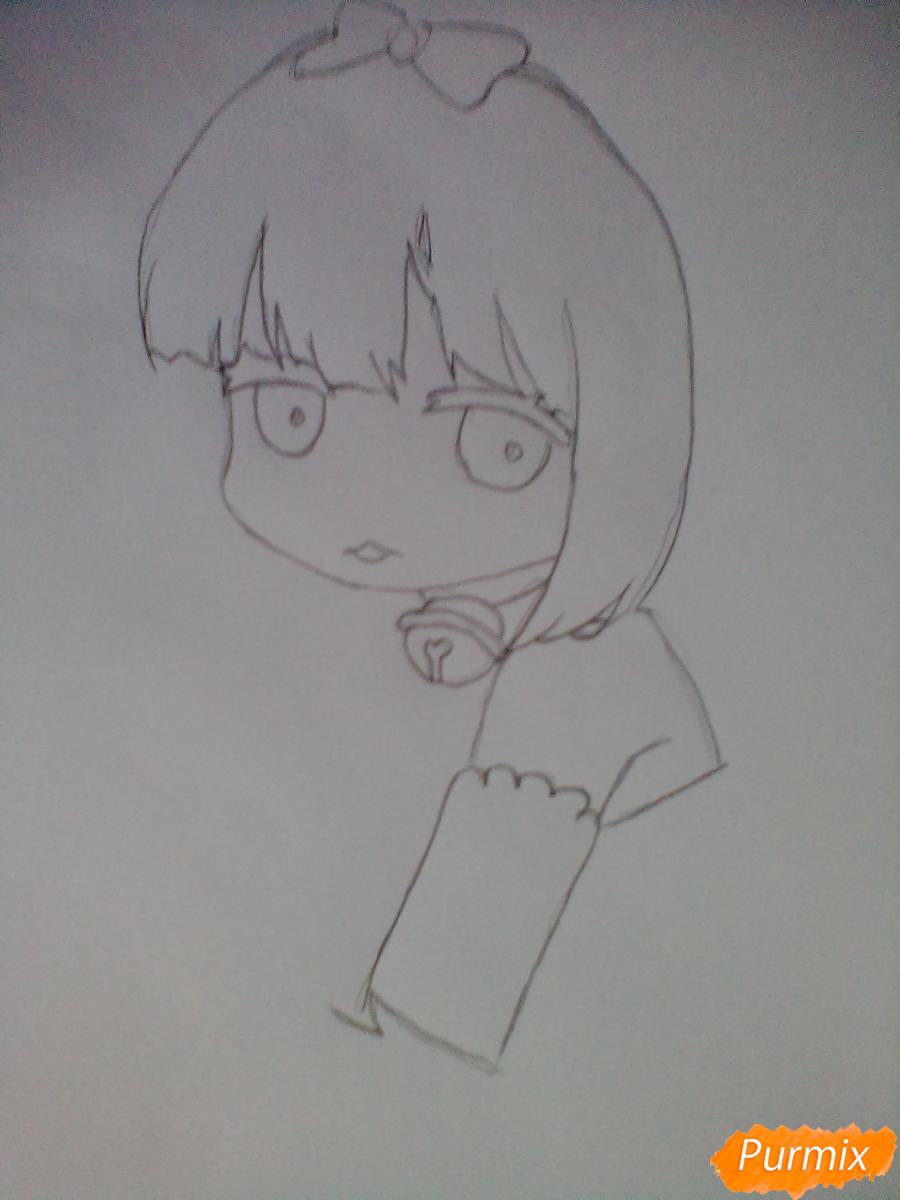 Рисуем милую Канну в стиле чиби - шаг 2