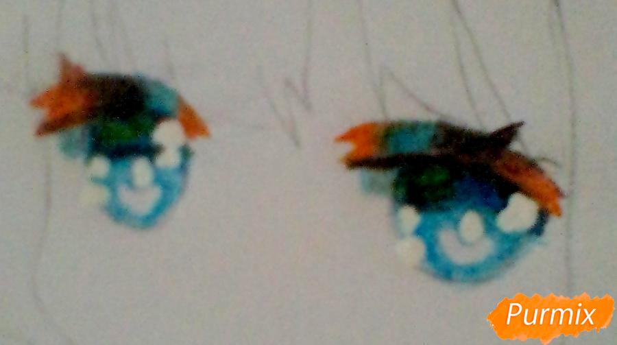 Рисуем милую Канну в стиле чиби - шаг 5