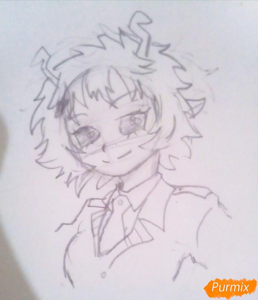 Рисуем Мину Ашидо из аниме Моя Геройская Академия - шаг 4