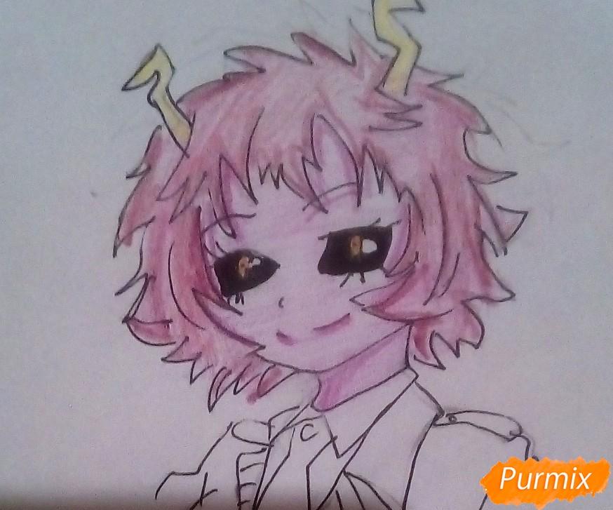 Рисуем Мину Ашидо из аниме Моя Геройская Академия - шаг 7
