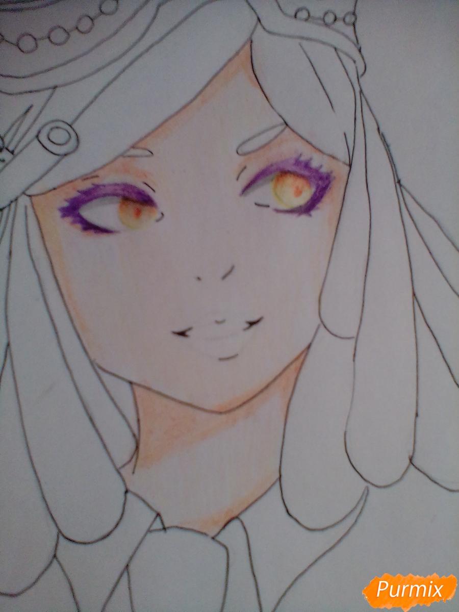Рисуем Мэй Хатсуме из аниме Моя Геройская Академия - шаг 8