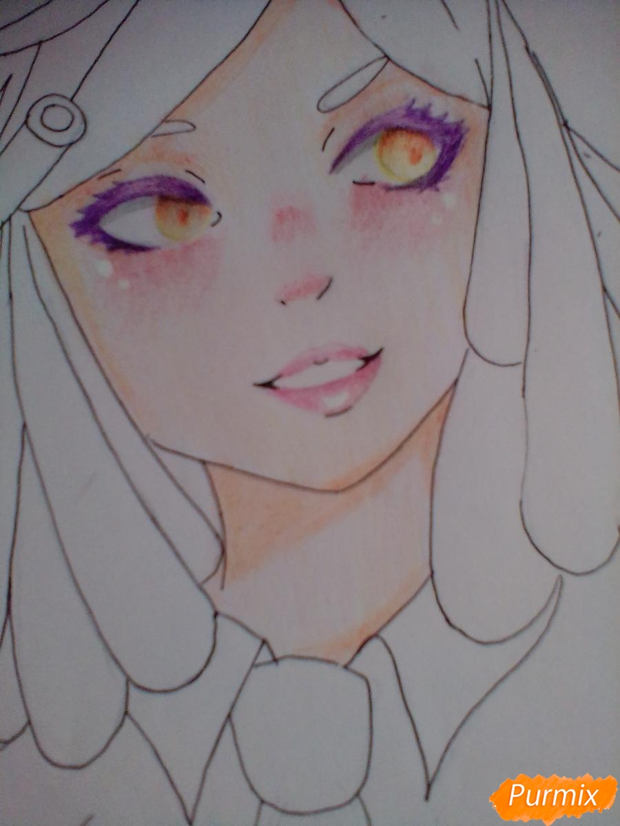 Рисуем Мэй Хатсуме из аниме Моя Геройская Академия - шаг 9