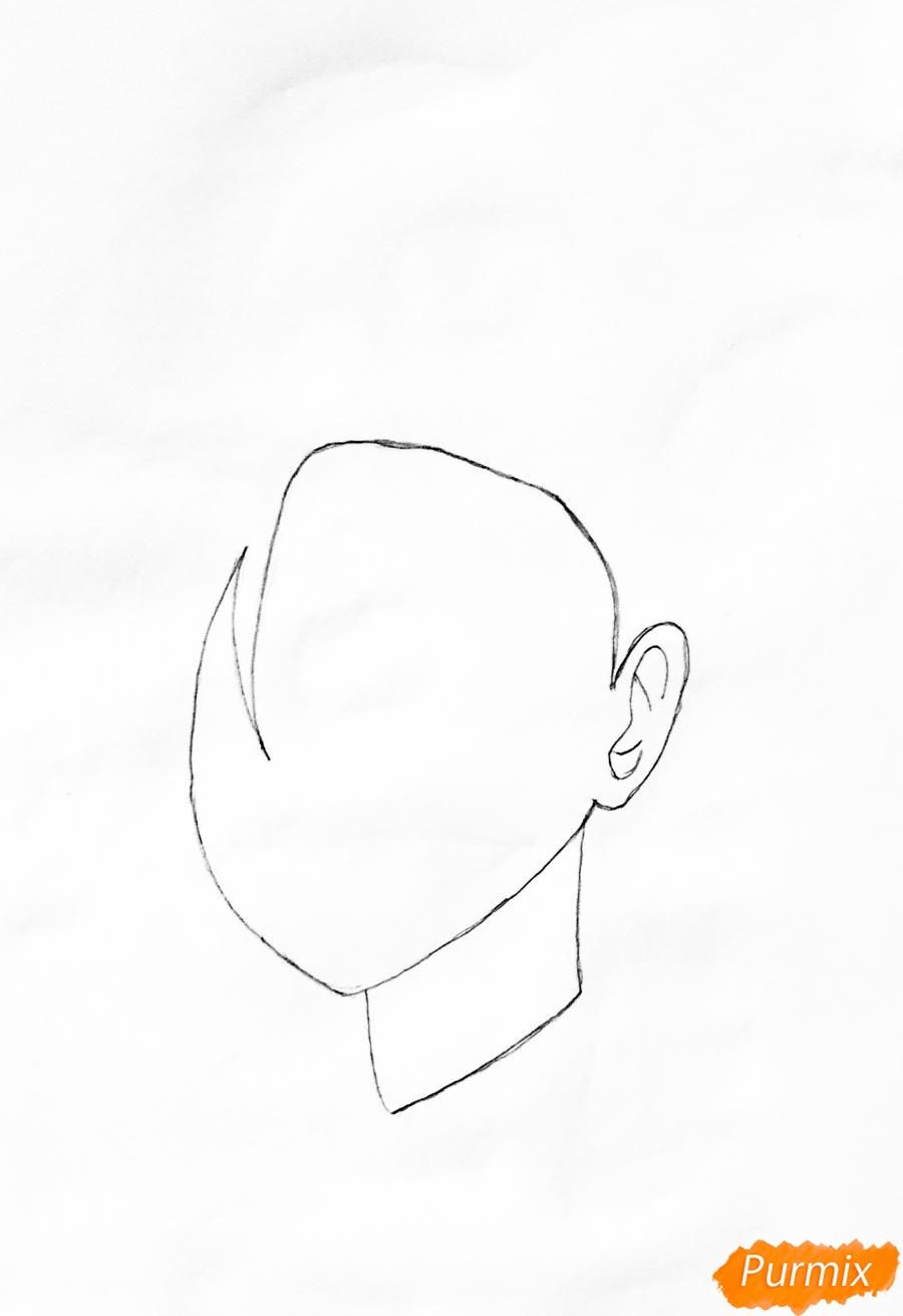 Рисуем Момо Яойорозу из аниме моя Геройская Академия - шаг 1