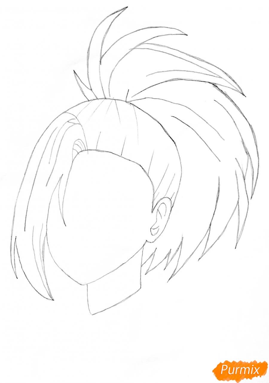 Рисуем Момо Яойорозу из аниме моя Геройская Академия - шаг 2