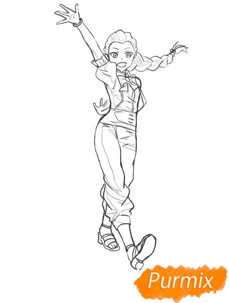 Рисуем Нану Джинту в полный рост из аниме Парад смерти - шаг 5
