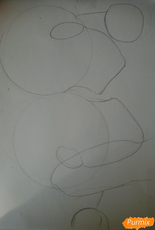 Рисуем Никифорова и Кацуки из аниме Юри на льду карандашами - шаг 1