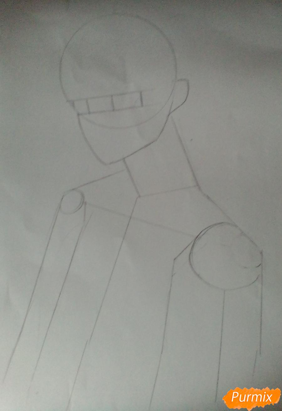 Рисуем Нишиною Юу из аниме Волейбол карандашами - шаг 1