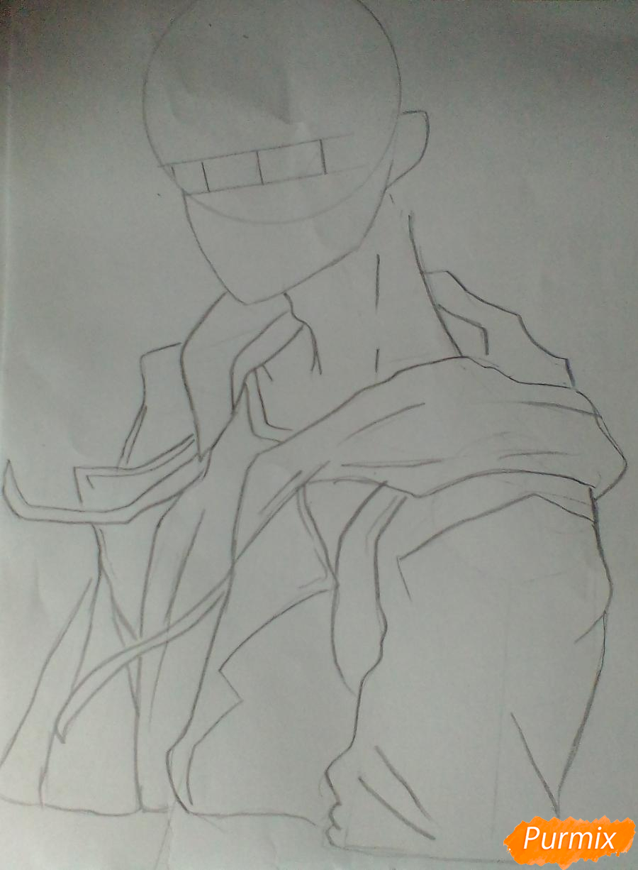 Рисуем Нишиною Юу из аниме Волейбол карандашами - шаг 2
