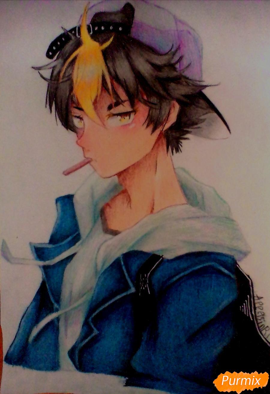 Как нарисовать Нишиною Юу из аниме Волейбол карандашами