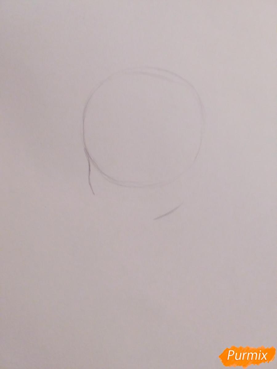 Рисуем Очако Урараку из аниме Моя Геройская Академия - шаг 1