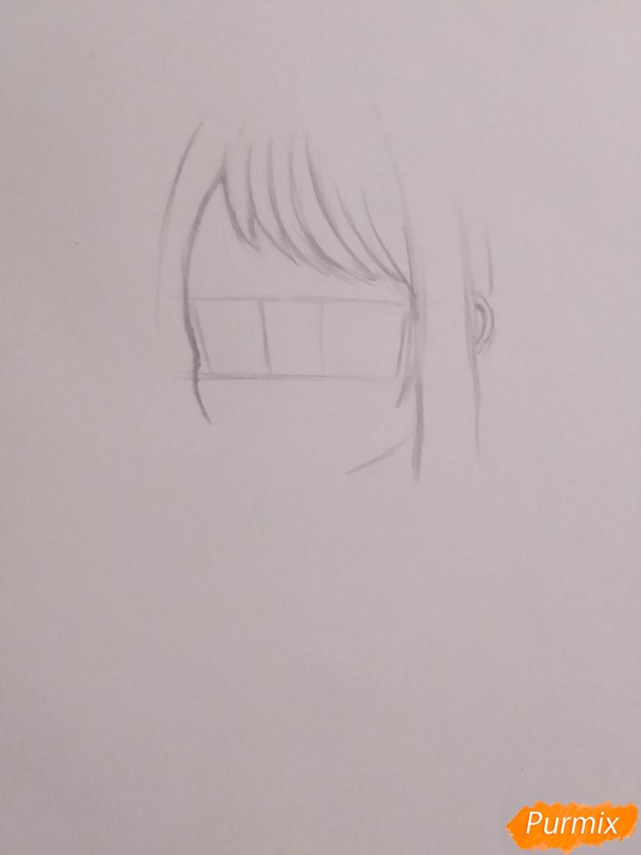 Рисуем Очако Урараку из аниме Моя Геройская Академия - шаг 2