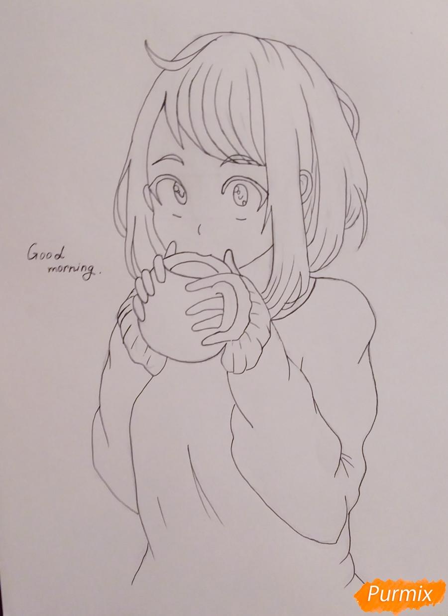 Рисуем Очако Урараку из аниме Моя Геройская Академия - шаг 5