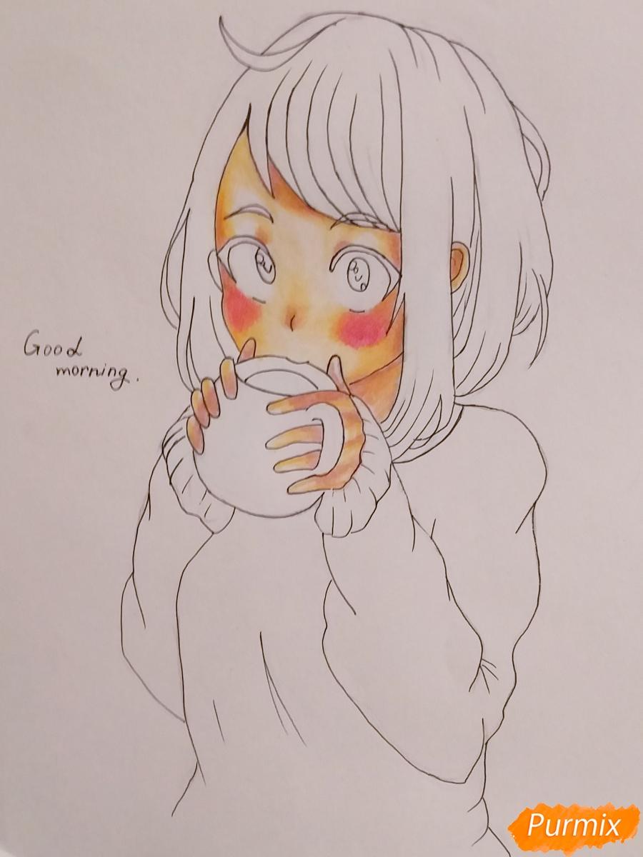 Рисуем Очако Урараку из аниме Моя Геройская Академия - шаг 6