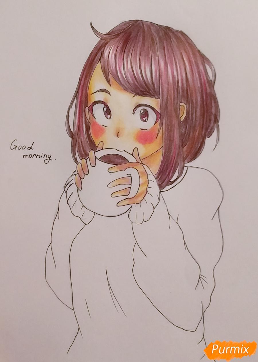Рисуем Очако Урараку из аниме Моя Геройская Академия - шаг 7