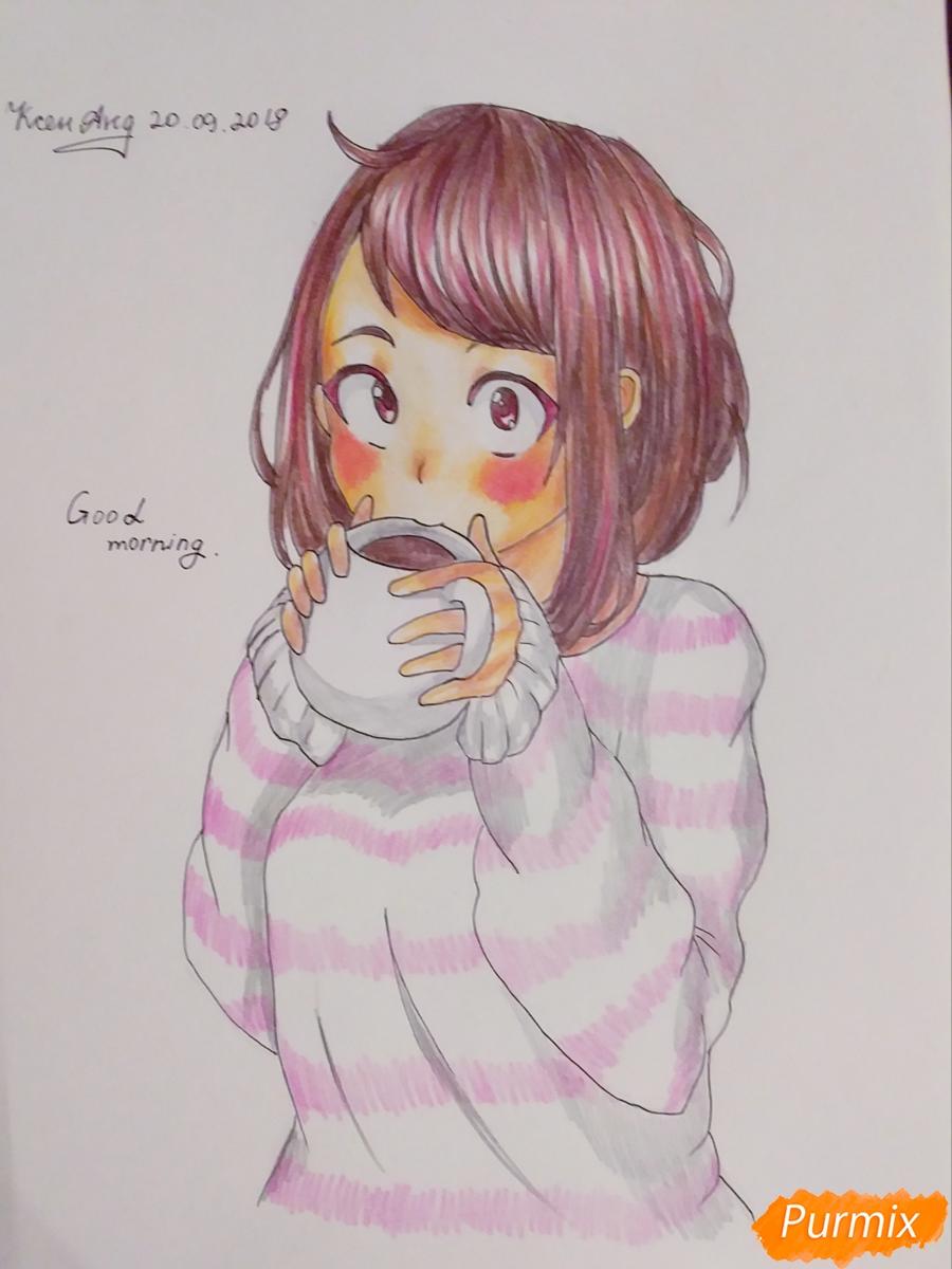 Рисуем Очако Урараку из аниме Моя Геройская Академия - шаг 8