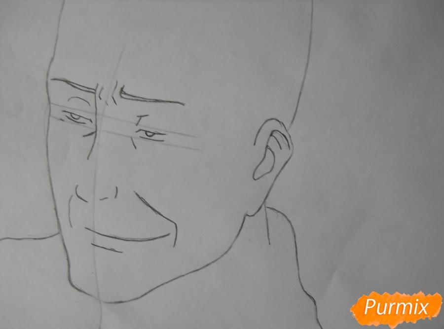 Рисуем портрет Оруо из аниме Атака титанов карандашами - шаг 2