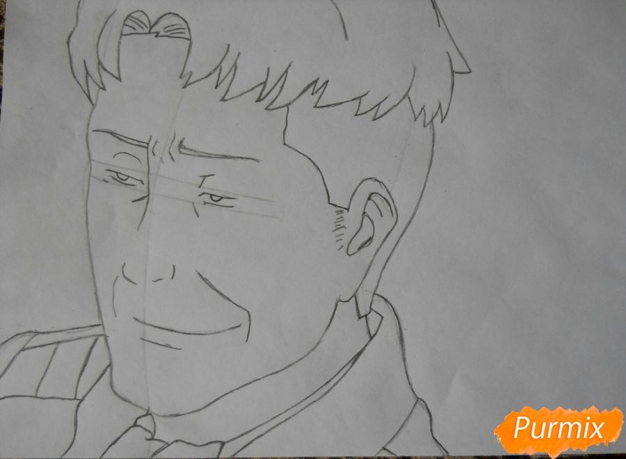 Рисуем портрет Оруо из аниме Атака титанов карандашами - шаг 4