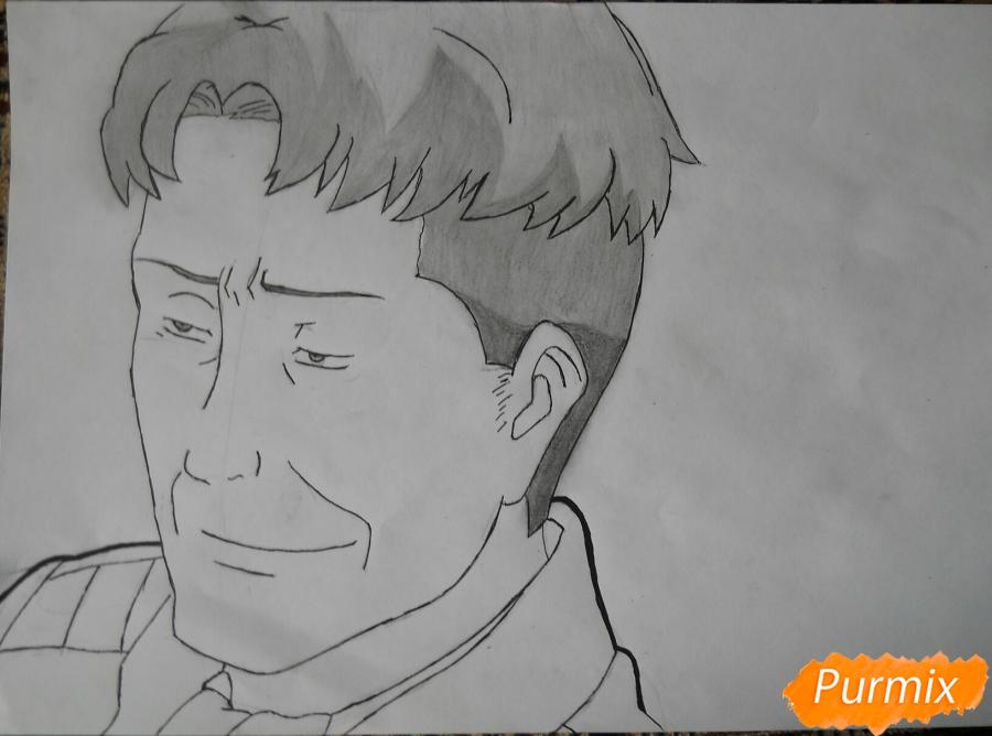 Рисуем портрет Оруо из аниме Атака титанов карандашами - шаг 6