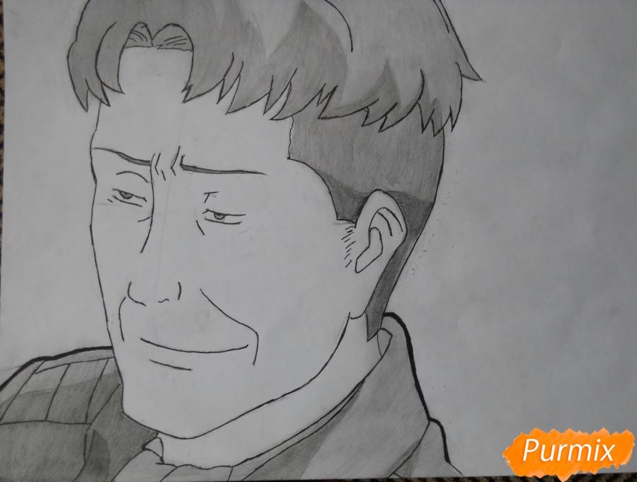 Рисуем портрет Оруо из аниме Атака титанов карандашами - шаг 7
