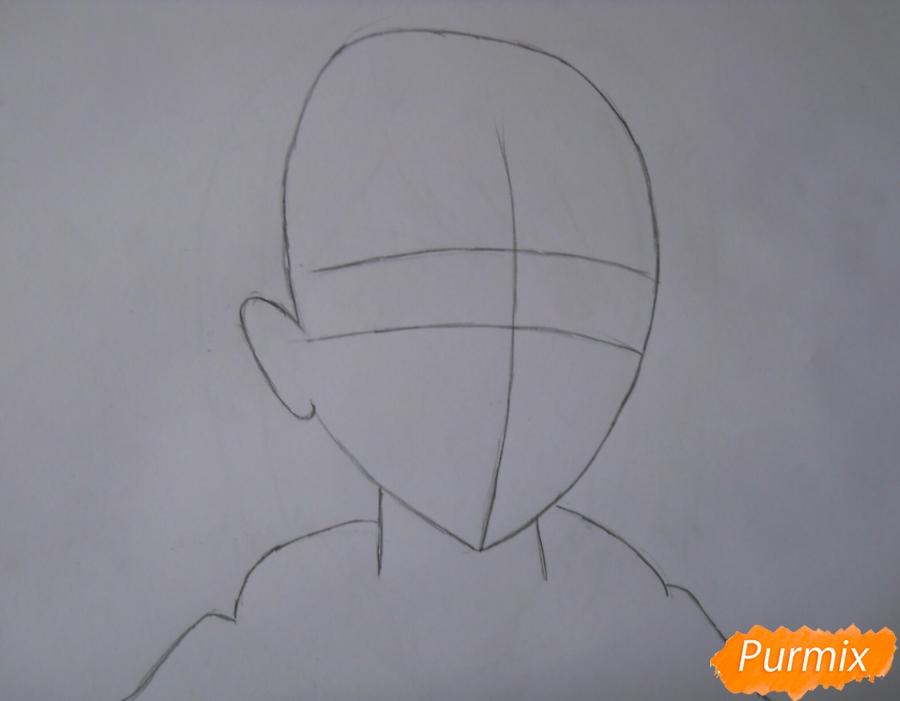 Рисуем портрет Петру из аниме Атака Титанов карандашами - шаг 1