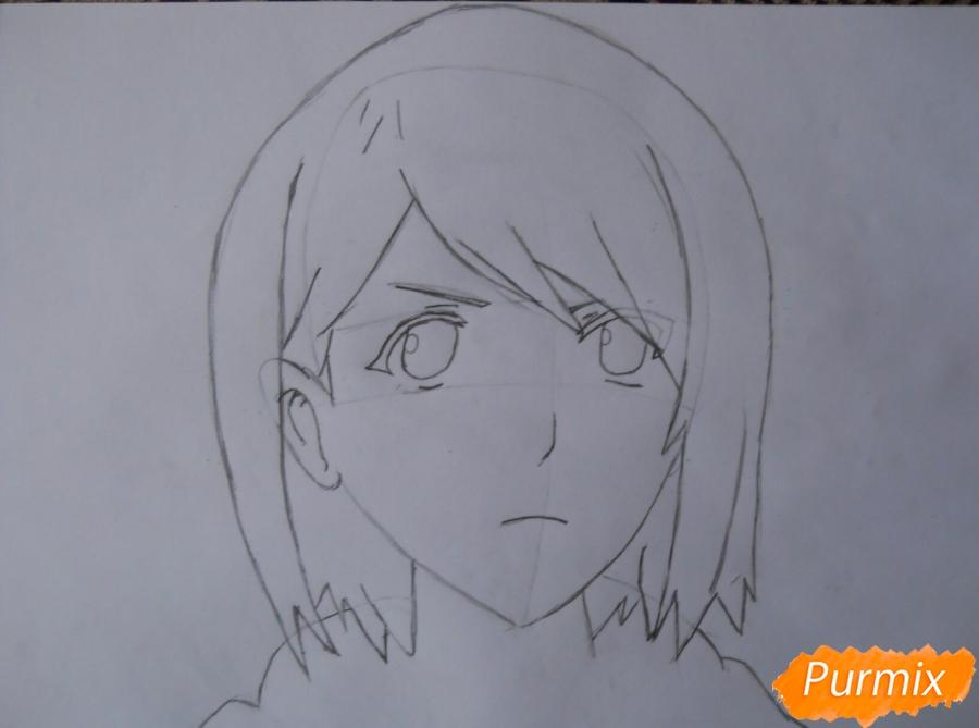Рисуем портрет Петру из аниме Атака Титанов карандашами - шаг 3
