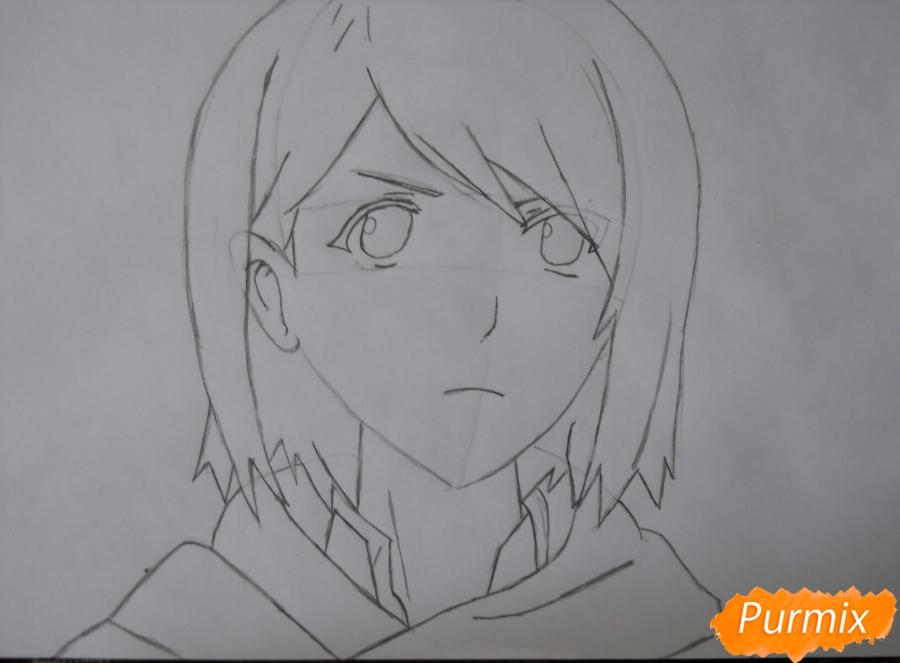 Рисуем портрет Петру из аниме Атака Титанов карандашами - шаг 4